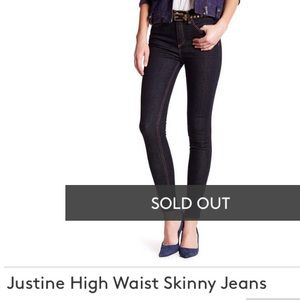 Justine High Waist Skinny Jeans